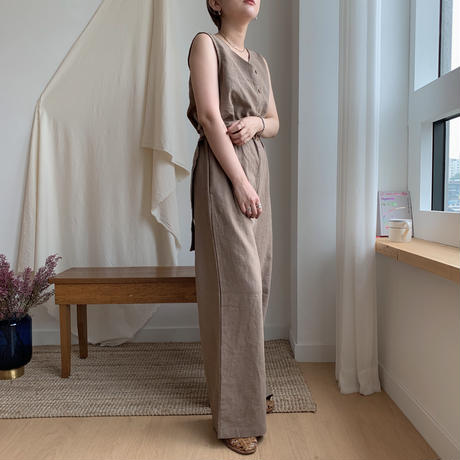 ✳︎予約販売✳︎ belt set linen all-in-one/2colors