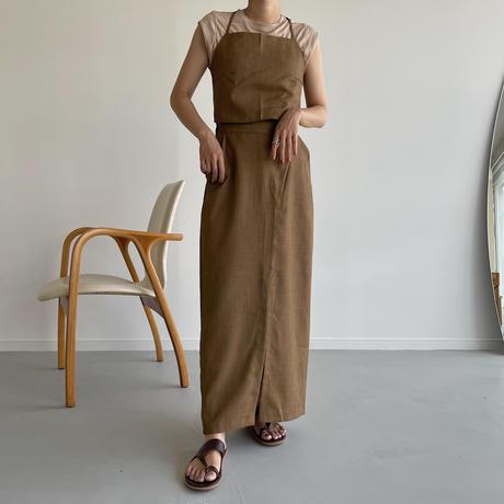 《予約販売》slit wrap skirt /2colors_ns0058