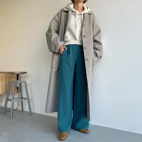 【nokcha original】back slit long pants/turquoise blue_np0452