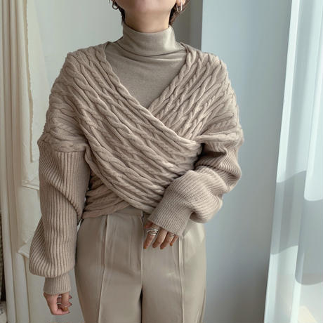 ✳︎予約販売✳︎cache-coeur cable knit/2colors_nt0153