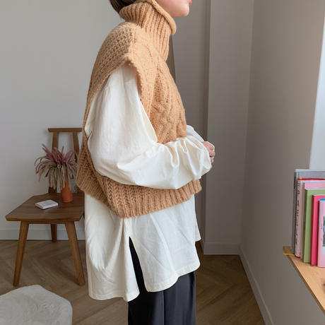 ✳︎予約販売✳︎french knit vest/2colors_nt0168