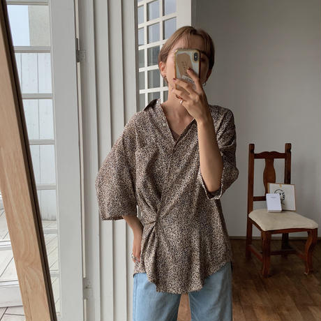 《予約販売》mosaic pattern 2way toromi shirt/2color_nt0523