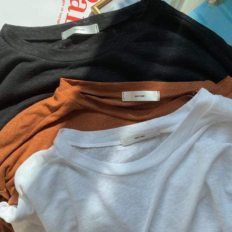 ✳︎予約販売✳︎simple linen T/3colors_nt0018