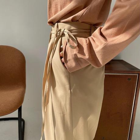 《予約販売》strap wide easy pants/2colors_np0351