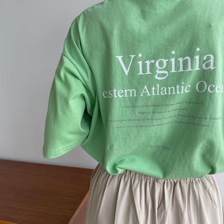 《予約販売》Virginia tee/2colors_nt0981