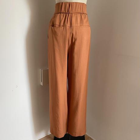 【nokcha original】unique tuck pants/terra-cotta_np0353