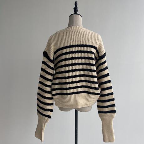 《予約販売》border lady knit/2colors_nt1095