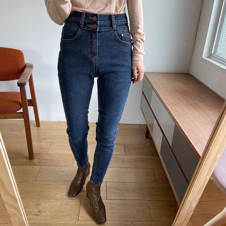 《予約販売》warm stretch stitch skinny jeans_np0323