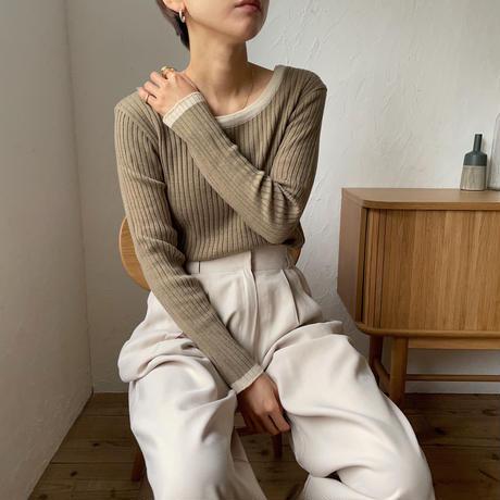 《予約販売》bi-color lib knit/2colors_nt0819