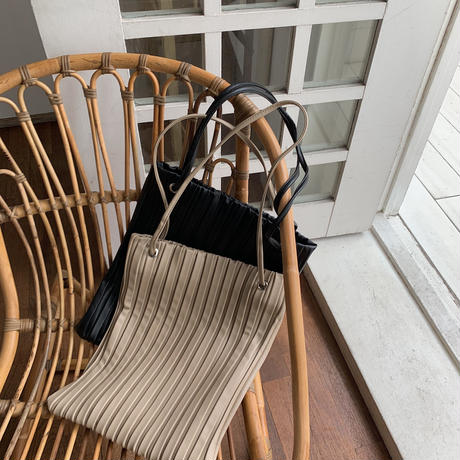《予約販売》pleats tote bag/2colors_na0166
