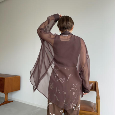 《予約販売》quality sheer over shirt_nt0994