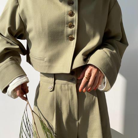 【nokcha original】half minimal jacket/pistàcchio_no0149