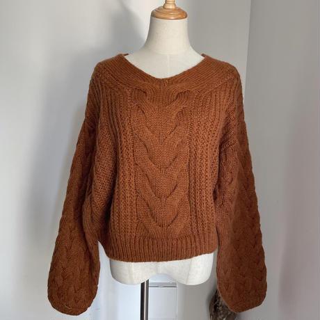 《予約販売》detail cable knit/2colors_nt0783
