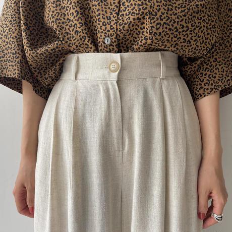 《予約販売》linen tuck wide pants/2colors_np0394