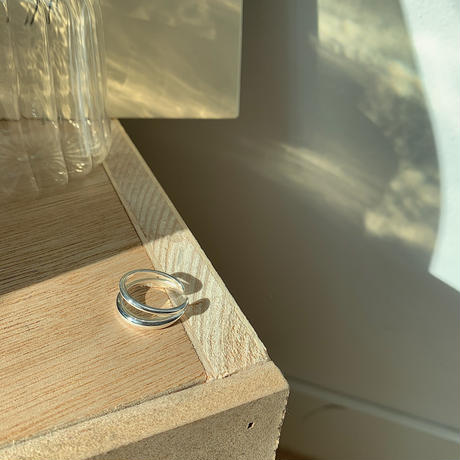 ✳︎予約販売✳︎silver925 simply two ring_na0118