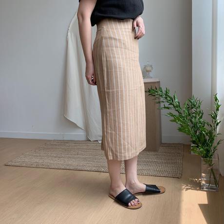 *予約販売*stripe linen sk/2colors_ns0006