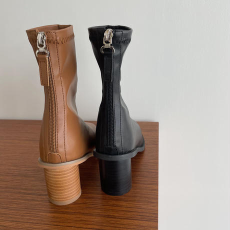 《予約販売》wood heel warm stitch boots/2colors_na0301