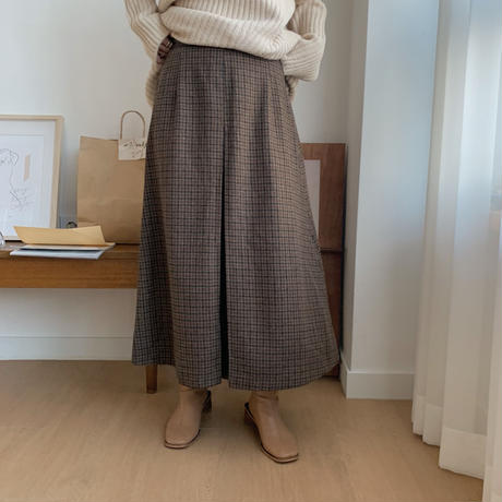 ✳︎予約販売✳︎check tuck skirt_ns0025