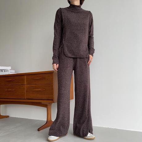 【nokcha original】worm mosaic pants/2colors_np0473