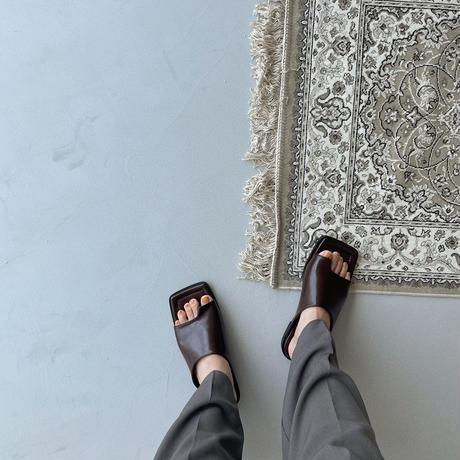 《予約販売》glossy tong sandal/2colors_na0288