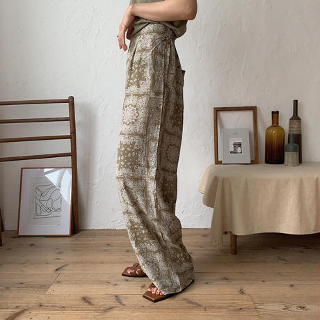 《予約販売》paysley easy pants/2colors_np0201