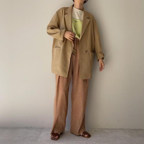 【nokcha original】linen tailored jacket/beige_no0158