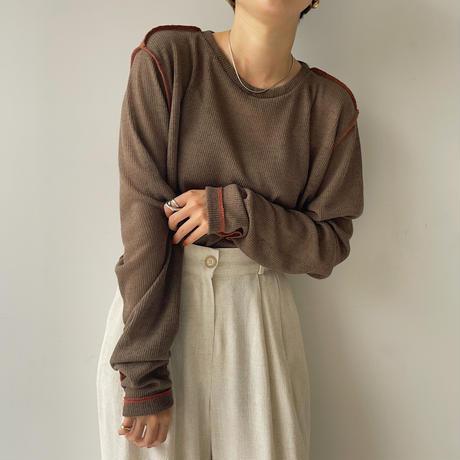 《予約販売》stich summer knit tee/2colors_nt0952