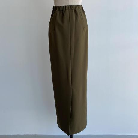 【nokcha original】stitch long skirt/khaki_ns0060