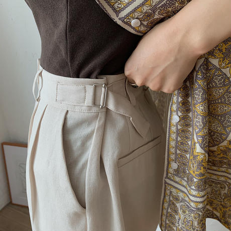 《予約販売》buckle quality pants/2colors_np0190