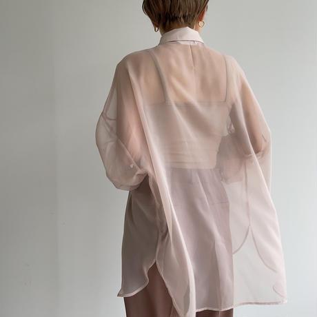 《予約販売》quality sheer over shirt/pink_nt1016