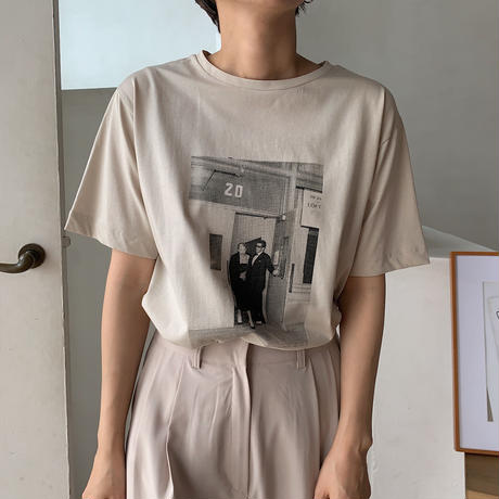 《予約販売》april tee/2colors_nt0477