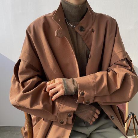 3月20日 以降順次発送【nokcha original】2way quality over trench coat/renga_no0146