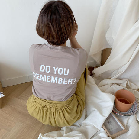 *予約販売*remember T/2colors