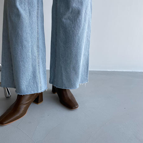 《予約販売》flare damage  jeans/2colors_nj0035