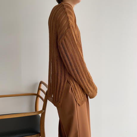 《予約販売》slit sheer knit/4colors_nt1064