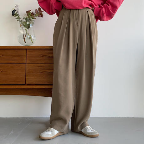 《予約販売》material wide tuck pants/3colors_np0478