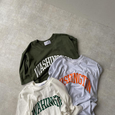 《予約販売》unisex Washington half tee/3colors_nt0953
