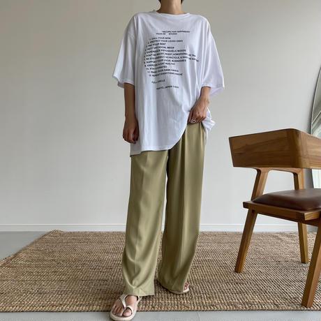 《予約販売》pistàcchio tuck pants_np0435