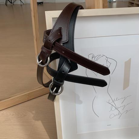 ✳︎予約販売✳︎leather point belt/2colors_na0083