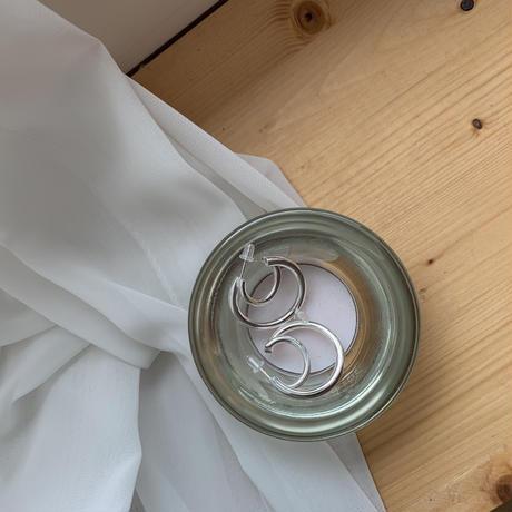 *予約販売*silver925 double ring pierce_na0037