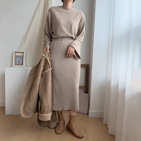 ✳︎予約販売✳︎lib knit skirt _ns0014