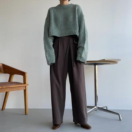 《予約販売》over croped knit/3colors_nt1101