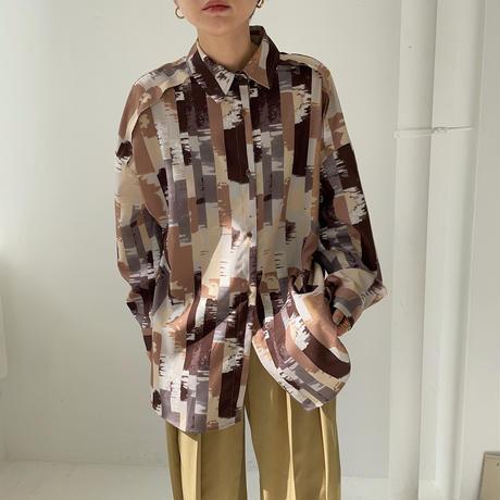 【nokcha original】quality gradation silky shirt_nt0870