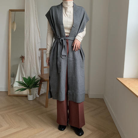 ✳︎予約販売✳︎knit long gilet/2colors_no0016