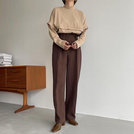 【nokcha original】rincl soft pants/brown_np0467