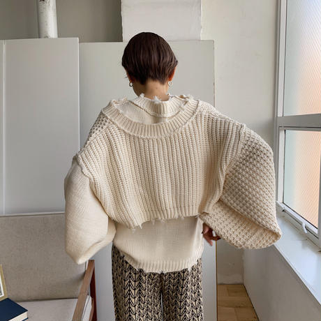 《予約販売》2set waffle knit/2colors_nt0787