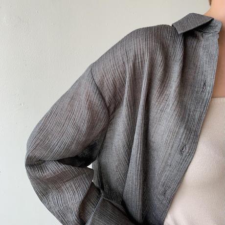 《予約販売》smooth sheer over shirt/3 colors_nt0375