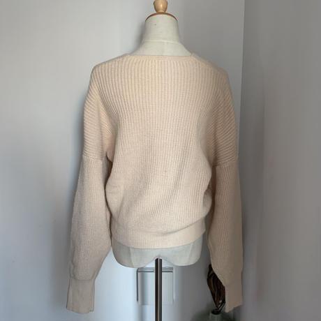 《予約販売》cross minimal knit_nt0664