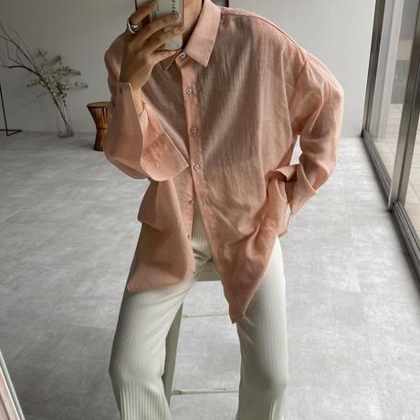 《予約販売》sheer casual shirt/5colors_nt0909