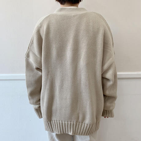 over knit cardigan